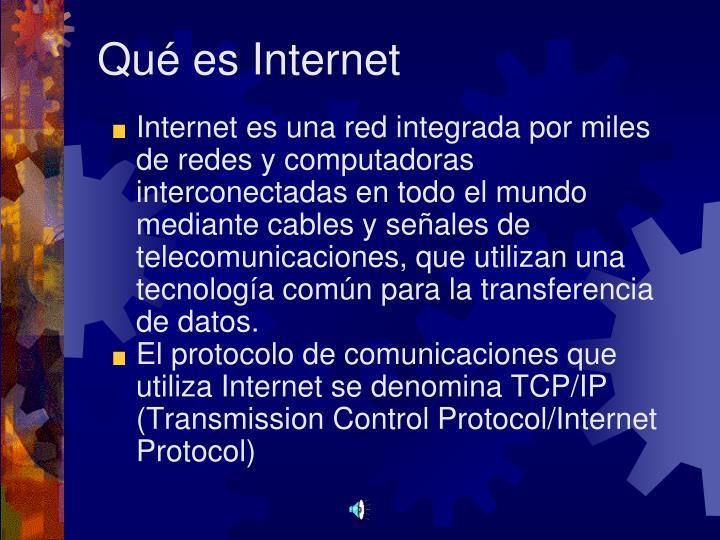 Qué es Internet