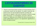 l evoluzionismo di darwin1