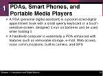 pdas smart phones and portable media players