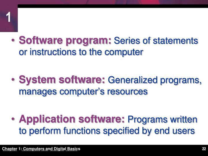 Software program: