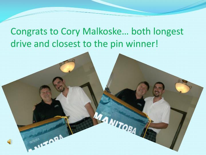 Congrats to Cory