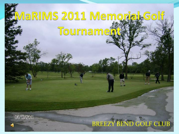 Marims 2011 memorial golf tournament