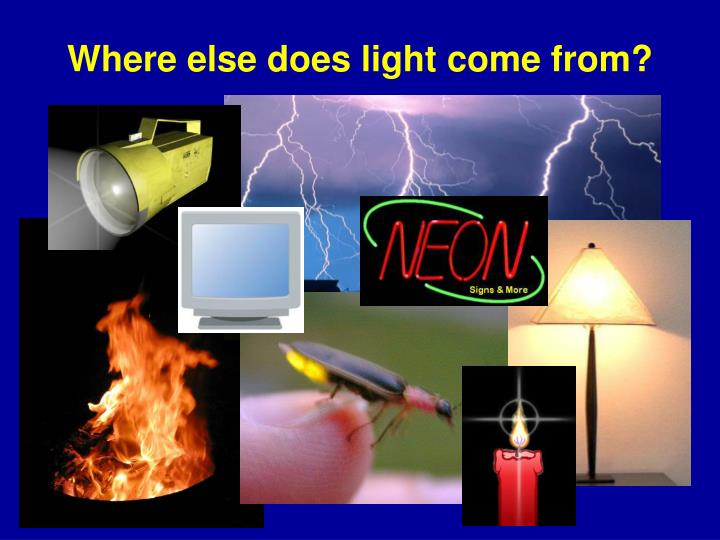 Where else does light come from?