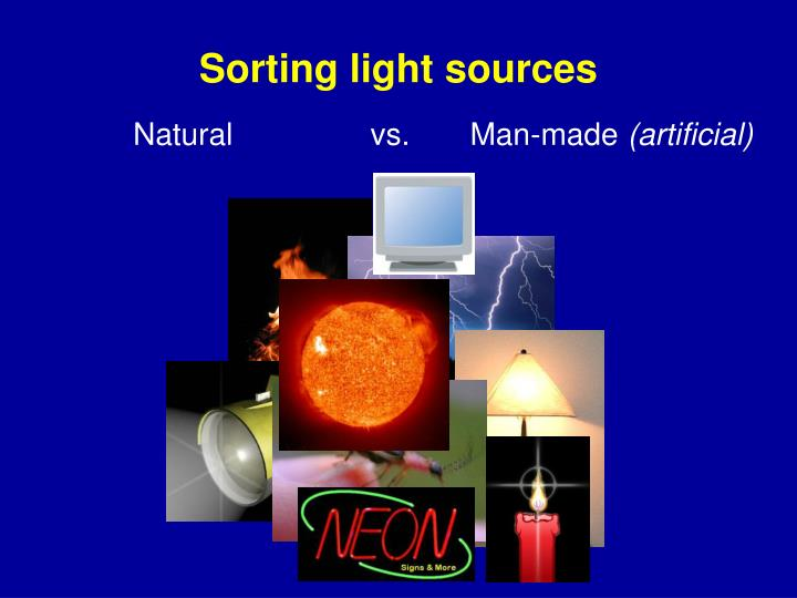 Sorting light sources
