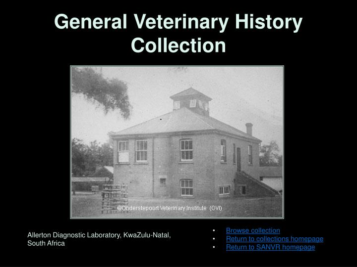 General Veterinary History Collection