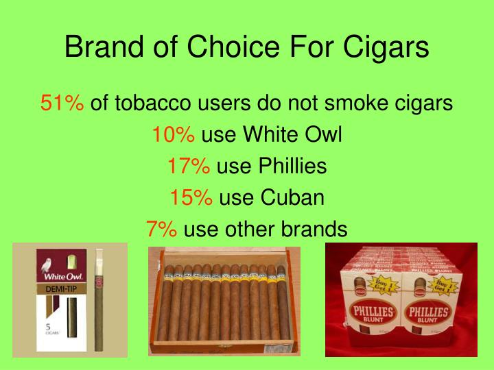Brand of Choice For Cigars