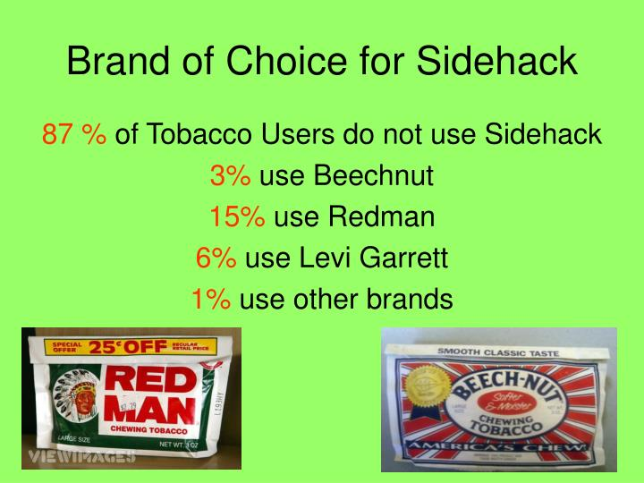 Brand of Choice for Sidehack