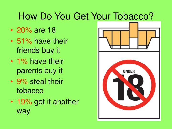 How Do You Get Your Tobacco?