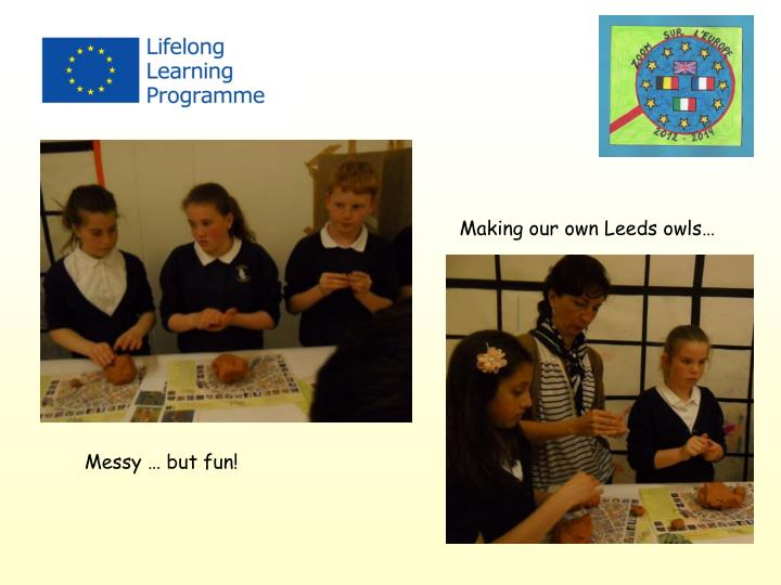 Making our own Leeds owls…