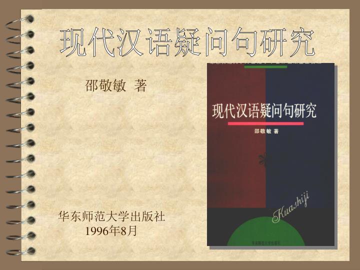 现代汉语疑问句研究