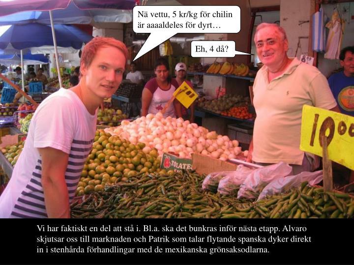 N vettu, 5 kr/kg fr chilin r aaaaldeles fr dyrt