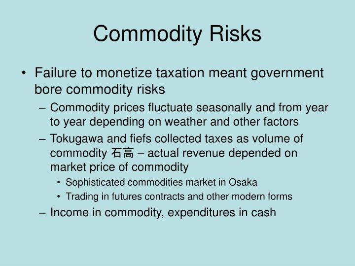 Commodity Risks
