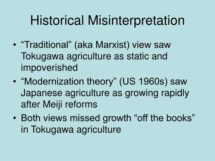 Historical Misinterpretation