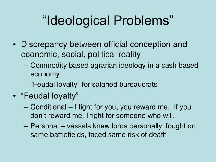 """Ideological Problems"""