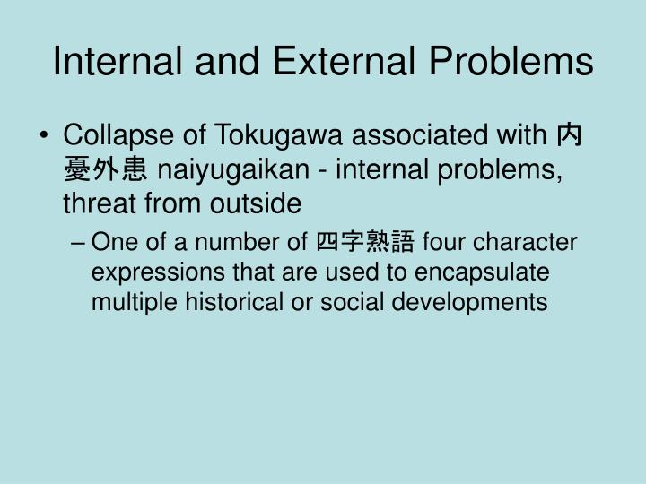 Internal and external problems