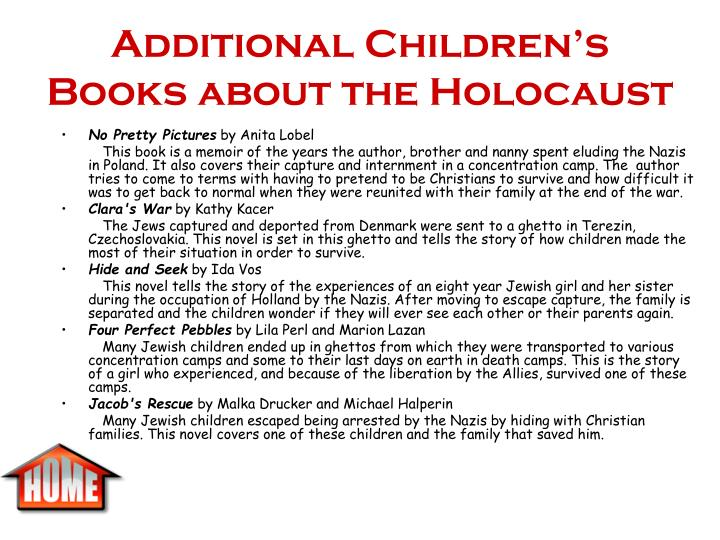 Additional Children's Books about the Holocaust