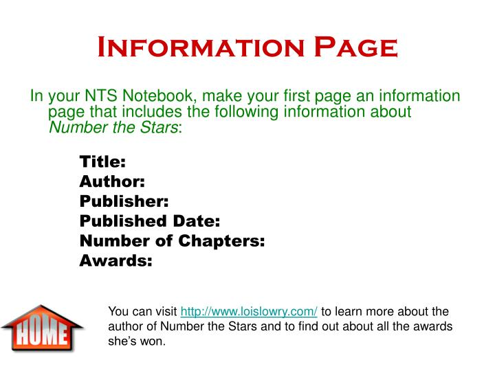 Information Page