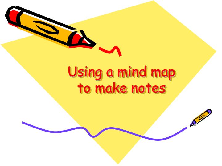 Using a mind map to make notes
