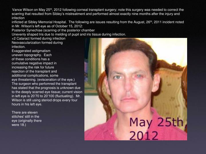 Vance Wilson on May 25