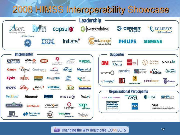 2008 HIMSS Interoperability Showcase
