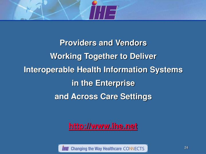 Providers and Vendors