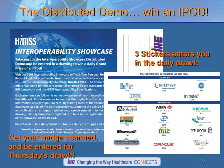 The Distributed Demo… win an IPOD!