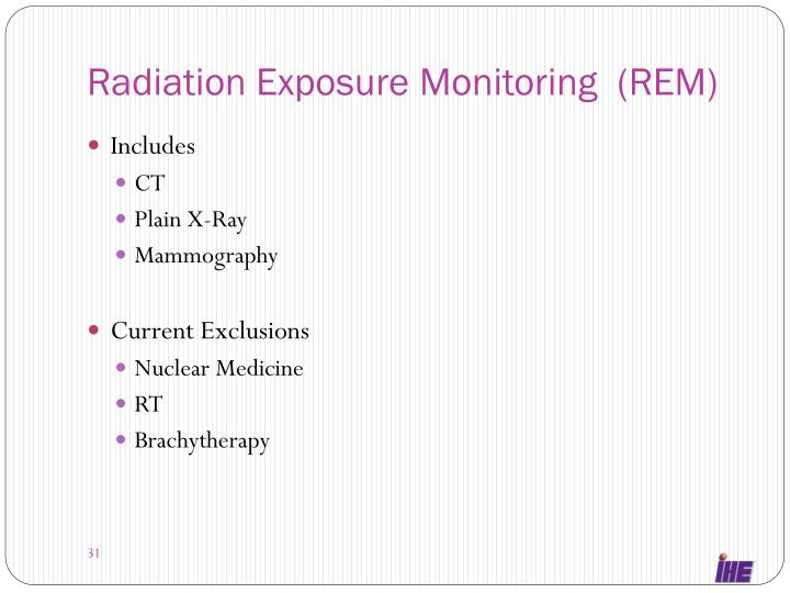 Radiation Exposure Monitoring  (REM)