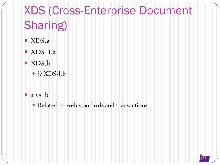 XDS (Cross-Enterprise Document Sharing)