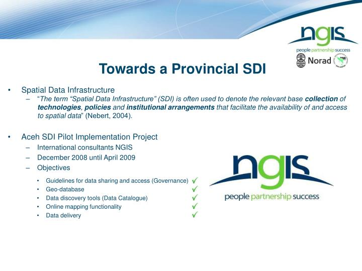 Towards a Provincial SDI