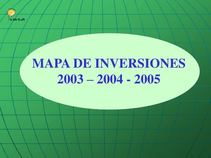 MAPA DE INVERSIONES