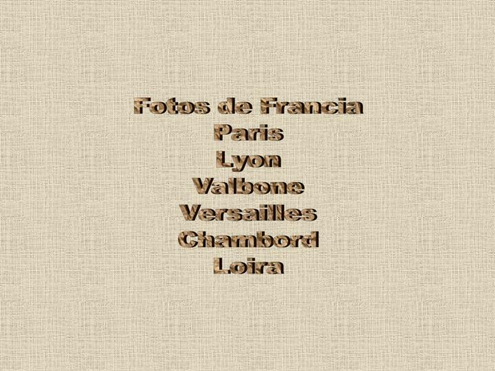 Fotos de Francia