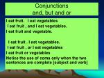 conjunctions and but and or