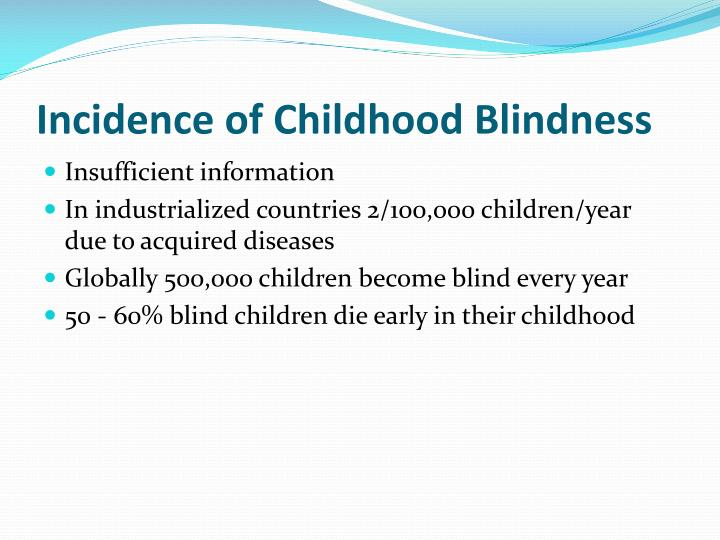 Incidence of Childhood Blindness
