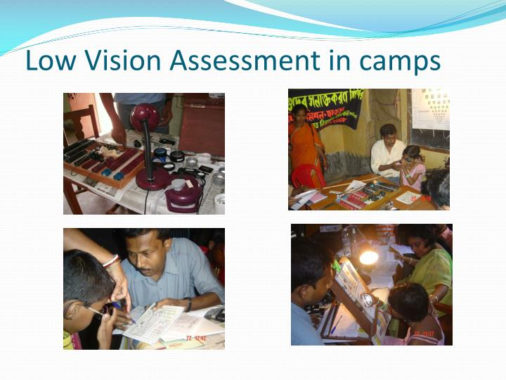 Low Vision Assessment in camps