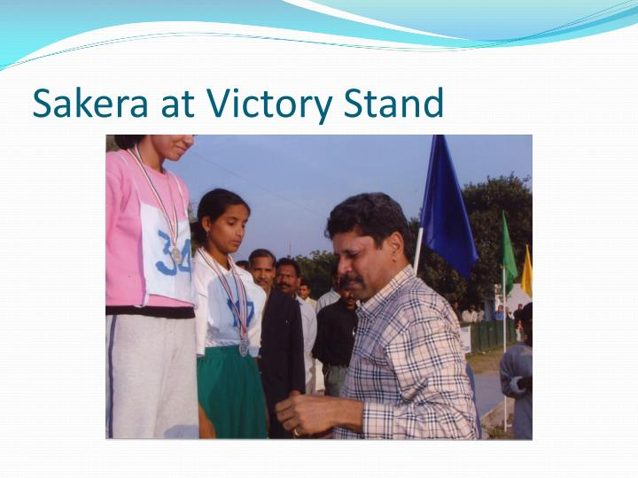 Sakera at Victory Stand