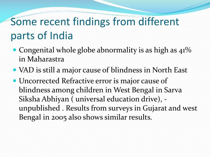 Some recent findings from different parts of India