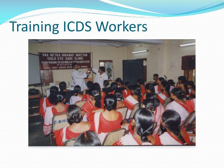 Training ICDS Workers