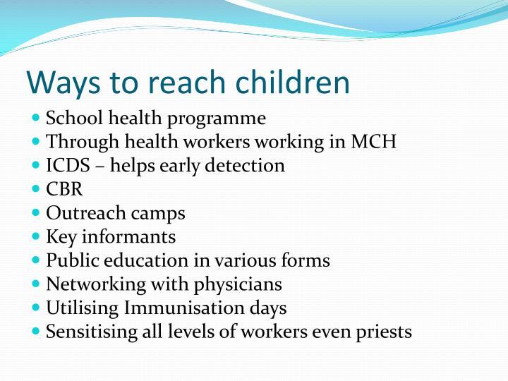 Ways to reach children