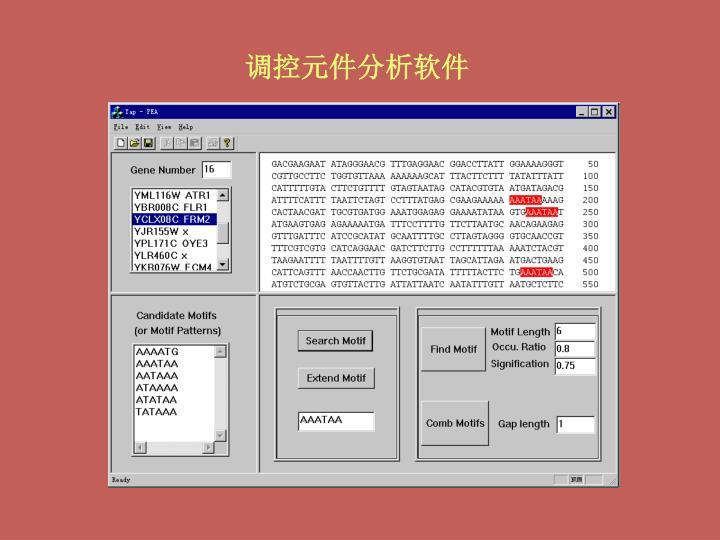 调控元件分析软件