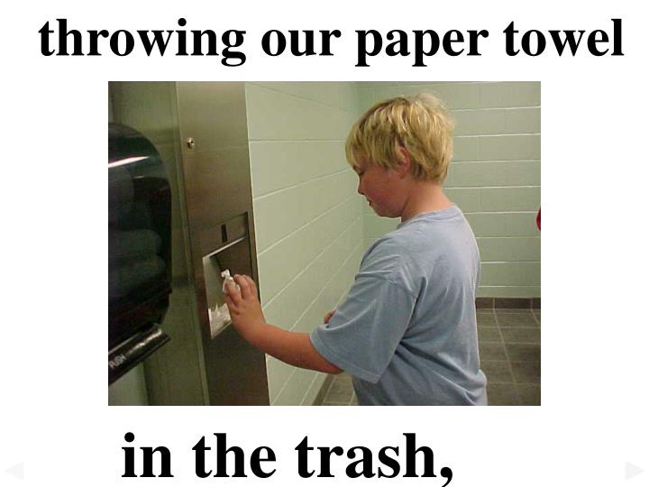 throwing our paper towel