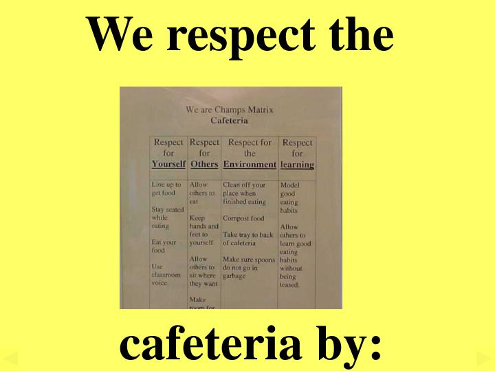 We respect the