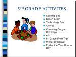 5 th grade activites