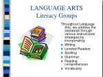 language arts literacy groups