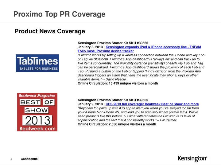 Proximo Top PR Coverage