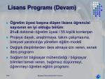 lisans program devam