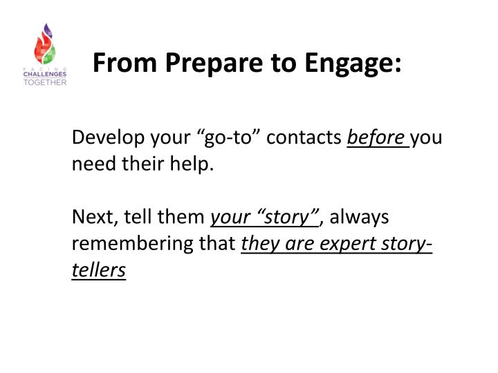 From Prepare to Engage: