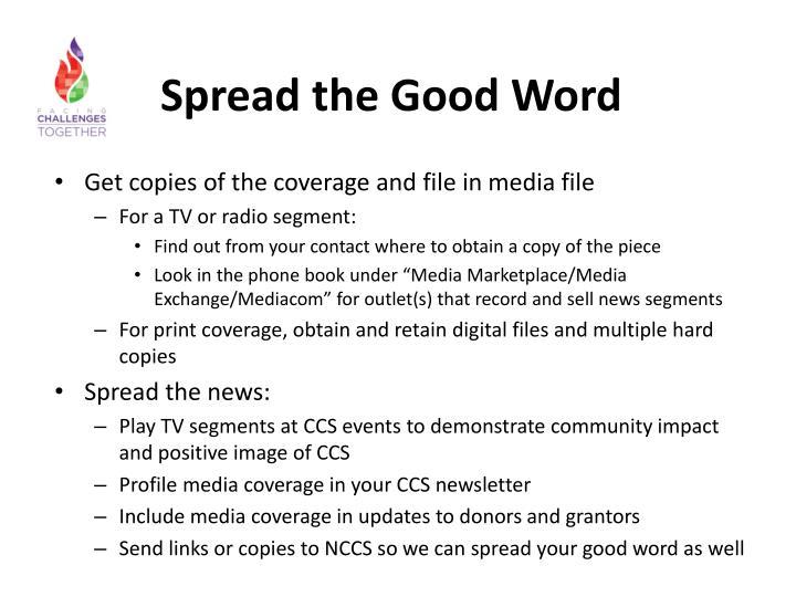 Spread the Good Word