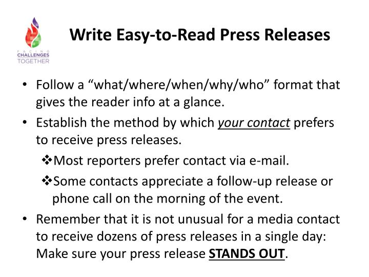 Write Easy-to-Read Press Releases