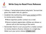 write easy to read press releases