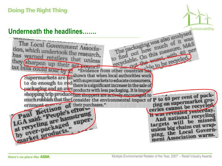 Underneath the headlines…….